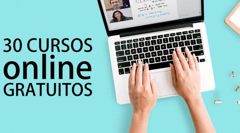 30 Cursos gratuitos y online  que no quieres perderte