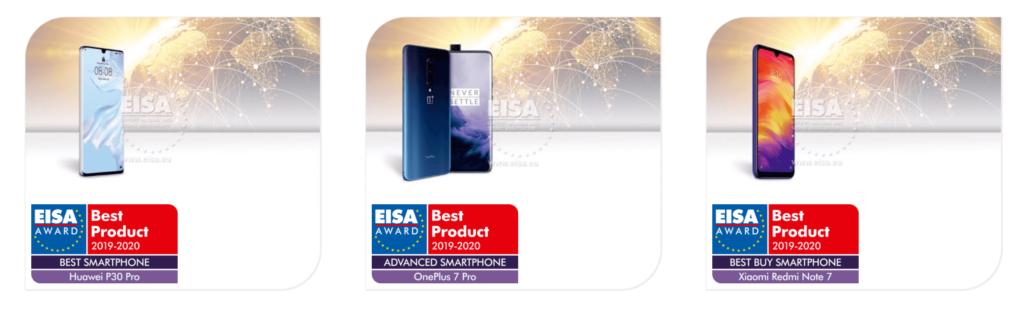 EISA Smartphones Ganadores 2019