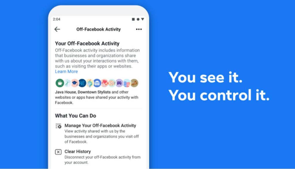 off facebook activity privacidad mayor