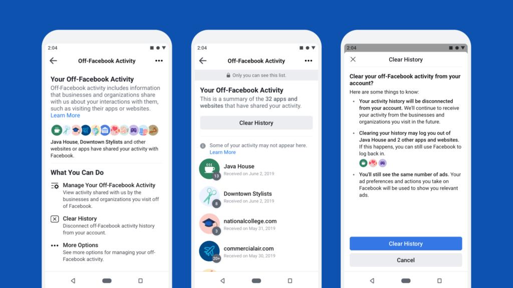 off facebook activity herramienta de privacidad