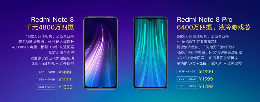 Redmi Note 8 y Redmi Note 8 Pro - Tecnobit