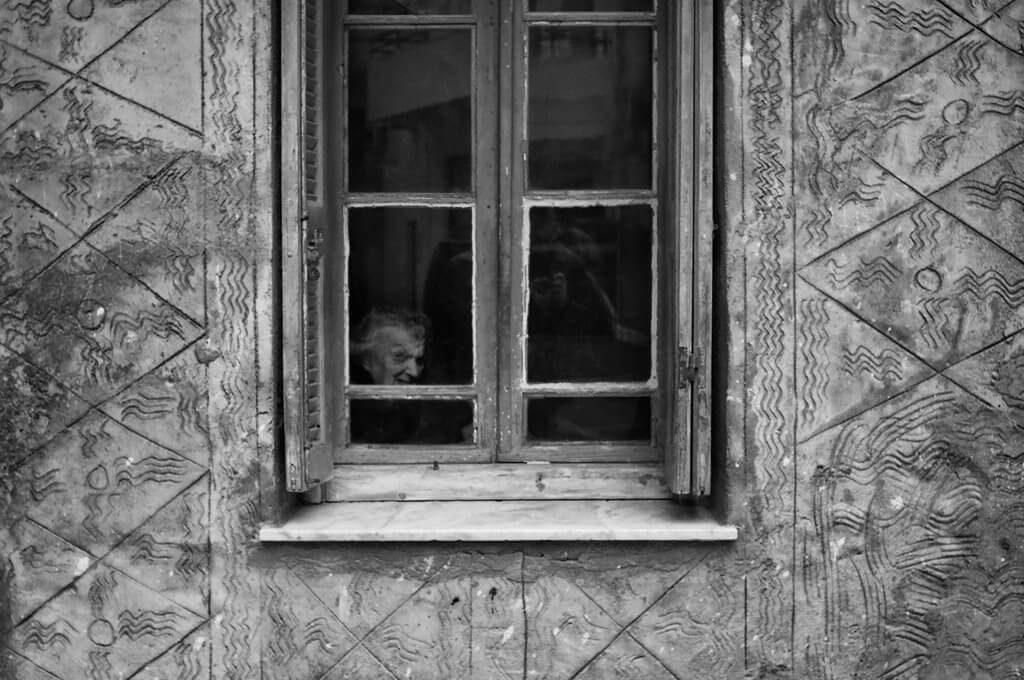 fotografia a traves de ventana