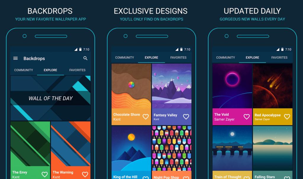 backdrops - app descargar imagenes tecnobit