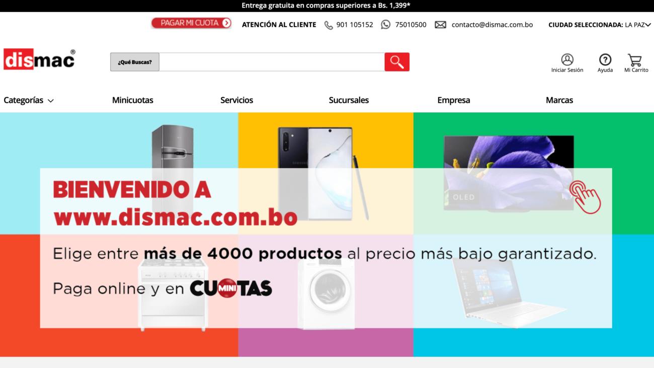 Dismac web e-commerce