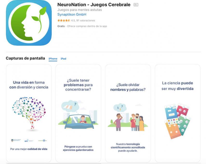 Neuronation, app para mejorar la memoria