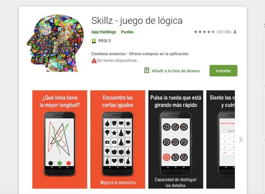 Skillz, app para ejercitar la memoria