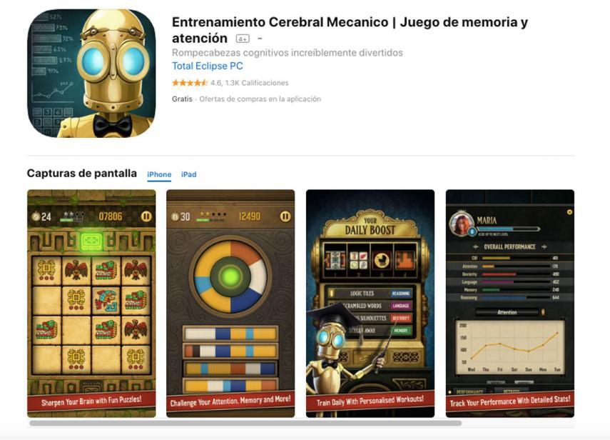 Apps para ejercitar la memoria y atención