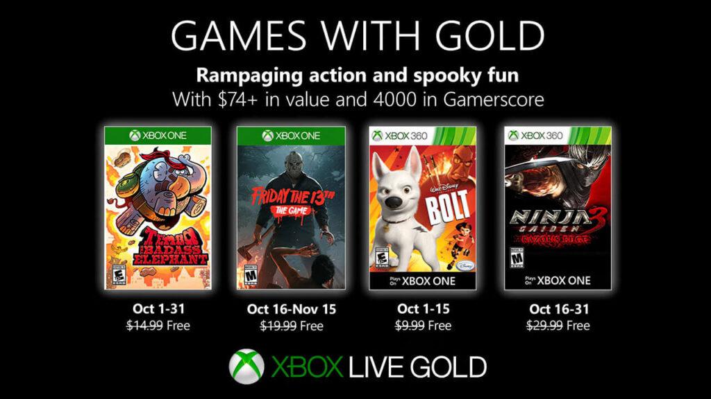 juegos gratis octubre xbox one