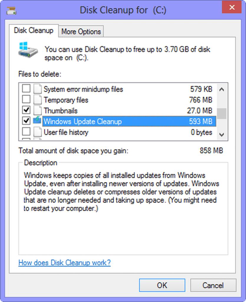 borrar basura windows 10 sistema