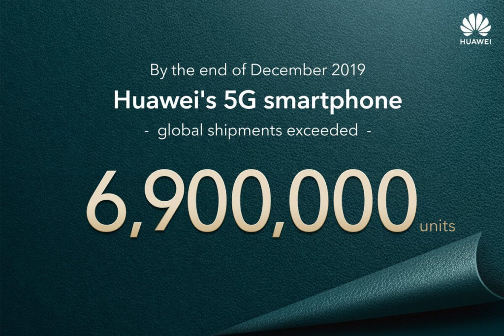 Huawei 5G 6.9 millones 2019