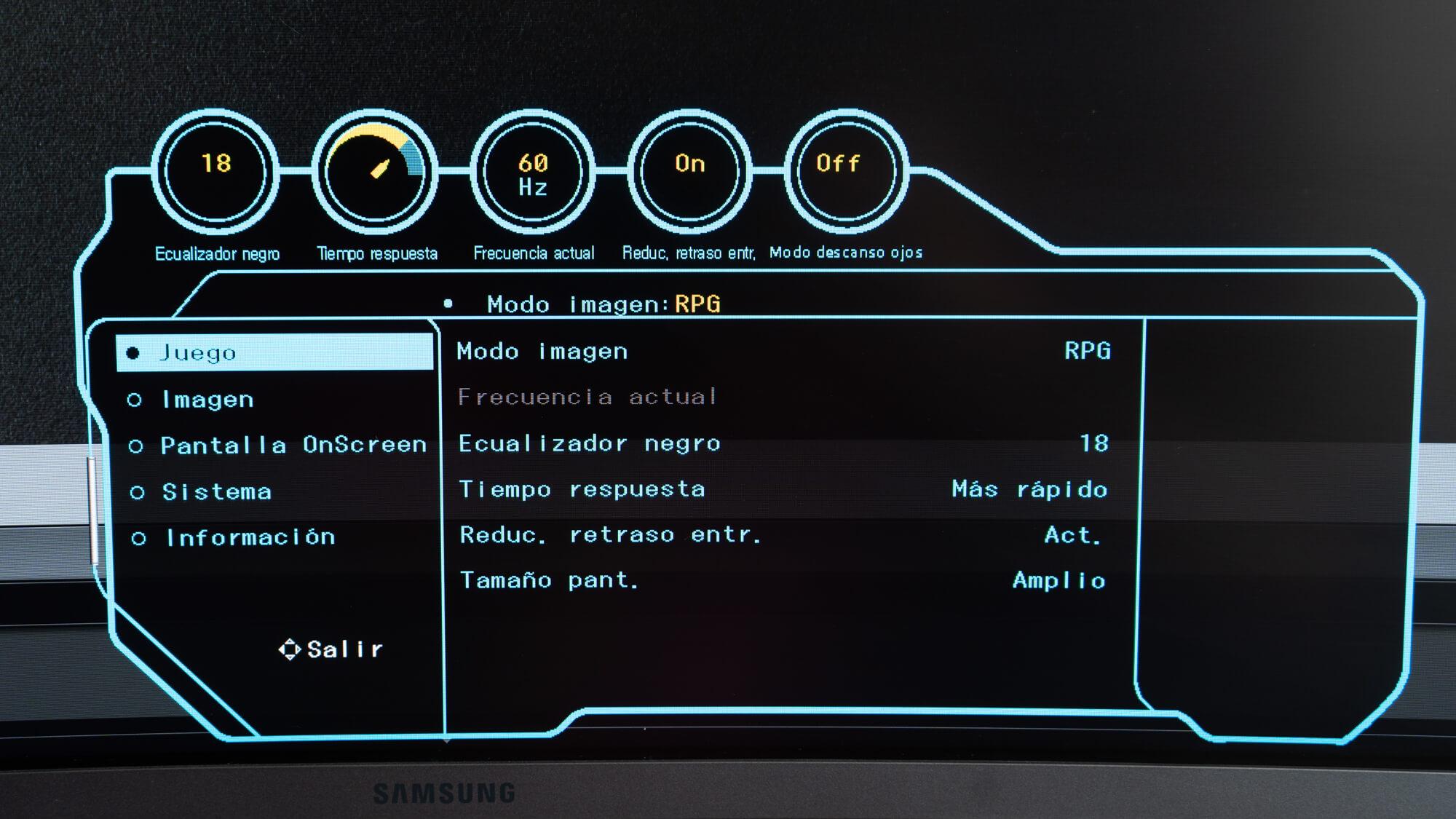 Samsung Monitor Curvo Gamer C32J Modos de Juego