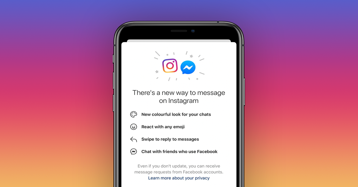 instagram messenger facebook
