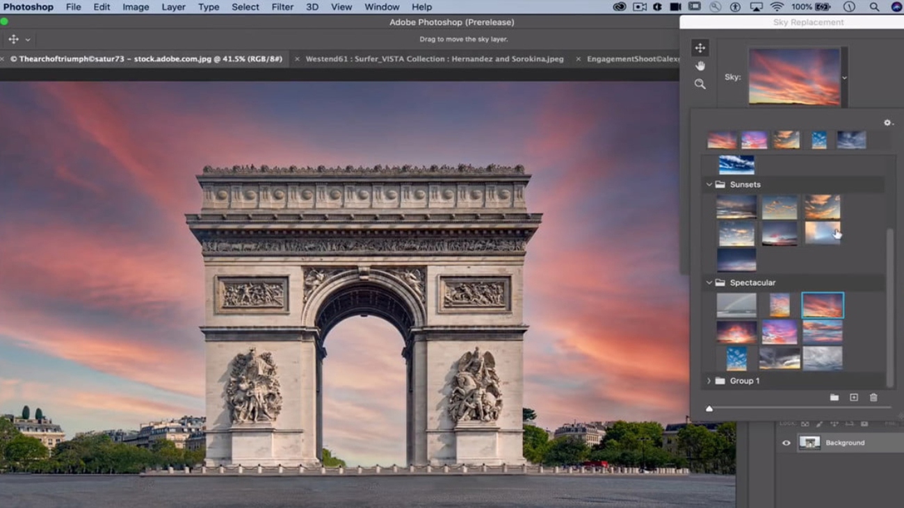 aobe photoshop sky replacement