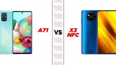 TB Versus Samsung A71 vs Poco X3 Rectangular
