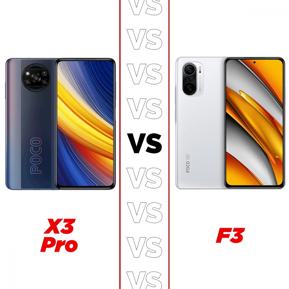 TB Poco X3 Pro versus Poco F3 Cuadrado